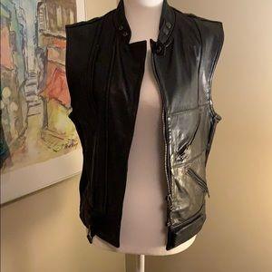 DKNY Leather Vest!
